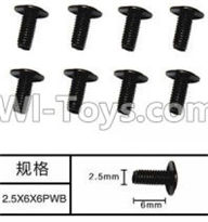 SuBotech BG1507 Car Parts-WLS004 Machine PWB Screws(8pcs)-M2.5X6X6PWB,Subotech BG1507 RC Car Spare parts Accessories,1:12 4WD BG1507 RC Racing Car parts,High Speed Drifting Buggy Parts