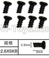 SuBotech BG1507 Car Parts-WLS005 Countersunk head screws(8pcs)-M2.6X5KB,Subotech BG1507 RC Car Spare parts Accessories,1:12 4WD BG1507 RC Racing Car parts,High Speed Drifting Buggy Parts