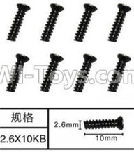 SuBotech BG1507 Car Parts-WLS009 Countersunk head screws(8pcs)-M2.6X10KB,Subotech BG1507 RC Car Spare parts Accessories,1:12 4WD BG1507 RC Racing Car parts,High Speed Drifting Buggy Parts