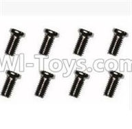 SuBotech BG1507 Car Parts-WLS016 Machine Screws(8pcs)-M3X6,Subotech BG1507 RC Car Spare parts Accessories,1:12 4WD BG1507 RC Racing Car parts,High Speed Drifting Buggy Parts