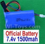 SuBotech BG1508 Parts-DZDC01 7.4V 1500MAH Battery(1pcs),Subotech BG1508 RC Car Spare parts Accessories,1:12 4WD BG1508 RC Racing Car parts,High Speed Drifting Buggy Parts