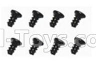 SuBotech BG1508 Parts-WLS001 Flat head screws(8pcs)-M2.0X4,Subotech BG1508 RC Car Spare parts Accessories,1:12 4WD BG1508 RC Racing Car parts,High Speed Drifting Buggy Parts