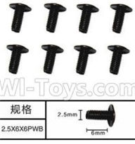 SuBotech BG1518 Car Parts-WLS004 Machine PWB Screws(8pcs)-M2.5X6X6PWB,Subotech BG1518 RC Car Spare parts Accessories,1:12 4WD BG1518 RC Racing Car parts,High Speed Drifting Buggy Parts