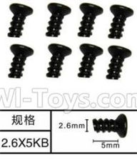 SuBotech BG1508 Parts-WLS005 Countersunk head screws(8pcs)-M2.6X5KB,Subotech BG1508 RC Car Spare parts Accessories,1:12 4WD BG1508 RC Racing Car parts,High Speed Drifting Buggy Parts