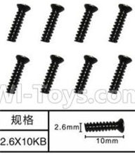SuBotech BG1508 Parts-WLS009 Countersunk head screws(8pcs)-M2.6X10KB,Subotech BG1508 RC Car Spare parts Accessories,1:12 4WD BG1508 RC Racing Car parts,High Speed Drifting Buggy Parts