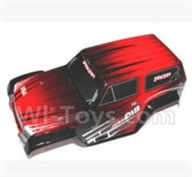 SuBotech BG1509 Parts-S15090000 Car canopy,Sheel cover-Red,Subotech BG1509 RC Car Spare parts Accessories,1:12 4WD BG1509 RC Racing Car parts,High Speed Drifting Buggy Parts