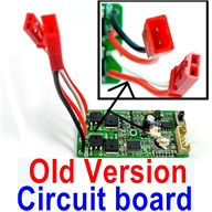 Subotech BG1510A Parts-DZDB04 Old Version Circuit board,Receiver board((Old version-The two plug are all Red color),Subotech BG1510A RC Car Spare parts Accessories,1:24 4WD BG1510A RC Racing Car parts