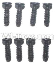 FQ777 HOPPER 9011 spare Parts-58 WLS026 Pan head screws(8pcs)-M2.7X7,FQ777 HOPPER 9011 RC Car Spare parts Accessories,1:24 4WD FQ777-9011 RC Racing Car parts,High Speed Drifting Buggy Parts