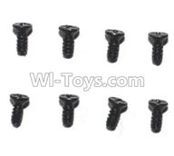 Subotech BG1510B Parts-WLS032 Countersunk head screws(8pcs)-M1.4X4,Subotech BG1510B RC Car Spare parts Accessories,1:24 4WD BG1510B RC Racing Car parts,High Speed Drifting Buggy Parts