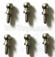 FQ777 HOPPER 9014 spare Parts-53 WZS021 2X5 Ball head screws(6pcs),FQ777 HOPPER 9014 RC Car Spare parts Accessories,1:24 4WD FQ777-9014 RC Racing Car parts,High Speed Drifting Buggy Parts