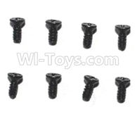Subotech BG1510D Parts-WLS032 Countersunk head screws(8pcs)-M1.4X4,Subotech BG1510D RC Car Spare parts Accessories,1:24 4WD BG1510D RC Racing Car parts,High Speed Drifting Buggy Parts