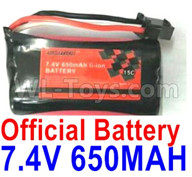 Subotech BG1521 Battery Parts-Official 7.4V 650MAH Battery(1pcs)-DLS002
