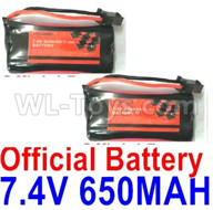 Subotech BG1521 Battery Parts-Official 7.4V 650MAH Battery(2pcs)-DLS002