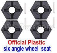 Subotech BG1521 Parts-Official Plastic Combination device, six angle wheel seat(4pcs)+Pin(4pcs)-S15201703