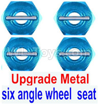 Subotech BG1521 Parts-Upgrade Metal Combination device, six angle wheel seat(4pcs)+Pin(4pcs)