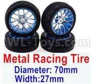 Subotech BG1521 Parts-Upgrade Metal Racing Tire(4 set)-Metal Wheel hub+Tire