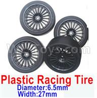 Subotech BG1521 Parts-Upgrade Plastic Racing Tire(4 set)-Plastic Wheel hub+Tire