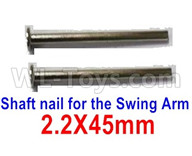 Subotech BG1521 Parts-Shaft nail for the Swing Arm(2pcs)-WTD002