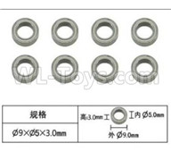 Subotech BG1521 Parts-Bearing,Ball bearing(5X9X3mm)-8pcs-WZC002