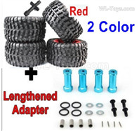 Subotech BG1525 Parts-Upgrade Large Wheel Tires + Upgrade Metal Lengthed 29mm adapter. Run more stable.Red or Green Color.