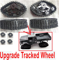 WPL B-14 B14 Parts-02-07 Upgrade Tracked Wheel(4 set),WPL B-14 B14 RC Car Parts,WPL 4X4 Parts,WPL B14 B-14 RC Military Truck Spare parts Accessories,WPL 1:16 Off-road Truck Parts