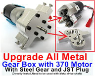 WPL B-14 B14 Parts-04-03 Upgrade All Metal Gear Box with 370 Motor and Steel gear,JST Plug(Directlry install,and it need to be used with 31-03 pr 31-04 Metal drive shaft together),WPL B-14 B14 RC Car Parts,WPL 4X4 Parts,WPL B14 B-14 RC Military Truck Spare parts Accessories,WPL 1:16 Off-road Truck Parts