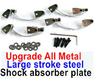 WPL B-14 B14 Parts-09-06 Upgrade All Metal Large stroke steel shock absorber plate(4 set)-larger Itinerary-(This parts need to used with metal drive shafts and upgrade steering rods together),WPL B-14 B14 RC Car Parts,WPL 4X4 Parts,WPL B14 B-14 RC Military Truck Spare parts Accessories,WPL 1:16 Off-road Truck Parts