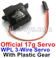 WPL B-24 B24 GAZ-66 Parts-17-01 Official WPL 3-Wire 17g Servo with Plastic Gear,WPL B-24 B24 RC Car Parts,WPL GAZ-66 Parts,WPL B24 B-24 RC Military Truck Spare parts Accessories,WPL 4X4 1:16 Off-road Truck Parts