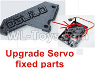 WPL B-24 B24 GAZ-66 Parts-18-02 Upgrade Servo fixed parts-3d print production,Not include the Servo Fixed Seat,WPL B-24 B24 RC Car Parts,WPL GAZ-66 Parts,WPL B24 B-24 RC Military Truck Spare parts Accessories,WPL 4X4 1:16 Off-road Truck Parts