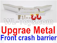 WPL B-24 B24 GAZ-66 Parts-20-03 Upgrade Metal Front crash barrier-Silver,WPL B-24 B24 RC Car Parts,WPL GAZ-66 Parts,WPL B24 B-24 RC Military Truck Spare parts Accessories,WPL 4X4 1:16 Off-road Truck Parts
