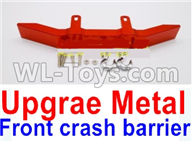 WPL B-24 B24 GAZ-66 Parts-20-04 Upgrade Metal Front crash barrier-Red,WPL B-24 B24 RC Car Parts,WPL GAZ-66 Parts,WPL B24 B-24 RC Military Truck Spare parts Accessories,WPL 4X4 1:16 Off-road Truck Parts