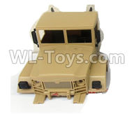 WPL B-24 B24 GAZ-66 Parts-36-01 Front car head cover-Yelllow,WPL B-24 B24 RC Car Parts,WPL GAZ-66 Parts,WPL B24 B-24 RC Military Truck Spare parts Accessories,WPL 4X4 1:16 Off-road Truck Parts