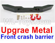 WPL B16 B-16 Parts-20-02 Upgrade Metal Front crash barrier-Black,WPL B14 B-14 RC Car Parts,WPL 4X4 Parts,WPL B14 B-14 RC Military Truck Spare parts Accessories,WPL 1:16 Off-road Truck Parts