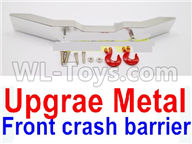 WPL B16 B-16 Parts-20-03 Upgrade Metal Front crash barrier-Silver,WPL B14 B-14 RC Car Parts,WPL 4X4 Parts,WPL B14 B-14 RC Military Truck Spare parts Accessories,WPL 1:16 Off-road Truck Parts
