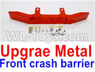 WPL B16 B-16 Parts-20-04 Upgrade Metal Front crash barrier-Red,WPL B14 B-14 RC Car Parts,WPL 4X4 Parts,WPL B14 B-14 RC Military Truck Spare parts Accessories,WPL 1:16 Off-road Truck Parts