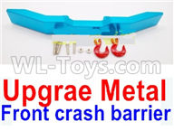 WPL B16 B-16 Parts-20-05 Upgrade Metal Front crash barrier-Blue,WPL B14 B-14 RC Car Parts,WPL 4X4 Parts,WPL B14 B-14 RC Military Truck Spare parts Accessories,WPL 1:16 Off-road Truck Parts