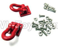 WPL B14 B-14 4X4 Truck Parts-23-01 Red rescue buckle, metal trailer hook,WPL B14 B-14 RC Car Parts,WPL 4X4 Parts,WPL B14 B-14 RC Military Truck Spare parts Accessories,WPL 1:16 Off-road Truck Parts