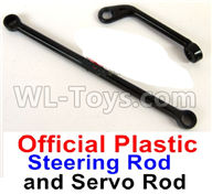 WPL B14 B-14 4X4 Truck Parts-28-01 Official Plastic Steering Rod and Servo Rod ,WPL B14 B-14 RC Car Parts,WPL 4X4 Parts,WPL B14 B-14 RC Military Truck Spare parts Accessories,WPL 1:16 Off-road Truck Parts