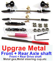 WPL B14 B-14 4X4 Truck Parts-30 Upgrade Metal gear,Upgrade Metal steering cup and Upgrade Metal drive shaft,WPL B14 B-14 RC Car Parts,WPL 4X4 Parts,WPL B14 B-14 RC Military Truck Spare parts Accessories,WPL 1:16 Off-road Truck Parts