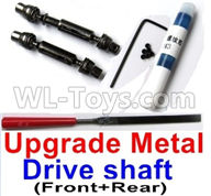 WPL B14 B-14 4X4 Truck Parts-31-04 Upgrade Front and Middle Metal Drive shaft(2pcs-Black color)-with screws,wrench and Sickl,WPL B14 B-14 RC Car Parts,WPL 4X4 Parts,WPL B14 B-14 RC Military Truck Spare parts Accessories,WPL 1:16 Off-road Truck Parts