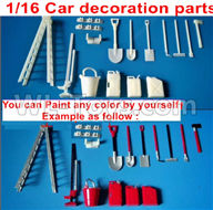 WPL B14 B-14 4X4 Truck Parts-39 Upgrade DIY Car decoration parts,You can Paint any color by yourself,WPL B14 B-14 RC Car Parts,WPL 4X4 Parts,WPL B14 B-14 RC Military Truck Spare parts Accessories,WPL 1:16 Off-road Truck Parts