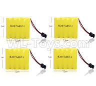 WPL C24 C-24 Spare Parts-14-03 Official 6V 700MAH Battery(4pcs)-7.2X5CM,WPL C24 C-24 RC Car Parts,WPL Parts,WPL C24 C-24 RC Military Truck Spare parts Accessories,WPL 4X4 1:16 Off-road Truck Parts