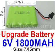WPL C24 C-24 Spare Parts-14-05 Upgrade 6V 1800MAH Battery(1pcs)-Size-7X5cm,WPL C24 C-24 RC Car Parts,WPL Parts,WPL C24 C-24 RC Military Truck Spare parts Accessories,WPL 4X4 1:16 Off-road Truck Parts
