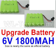 WPL C24 C-24 Spare Parts-14-06 Upgrade 6V 1800MAH Battery(2pcs)-Size-7X5cm,WPL C24 C-24 RC Car Parts,WPL Parts,WPL C24 C-24 RC Military Truck Spare parts Accessories,WPL 4X4 1:16 Off-road Truck Parts