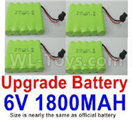 WPL C24 C-24 Spare Parts-14-07 Upgrade 6V 1800MAH Battery(4pcs)-Size-7X5cm,WPL C24 C-24 RC Car Parts,WPL Parts,WPL C24 C-24 RC Military Truck Spare parts Accessories,WPL 4X4 1:16 Off-road Truck Parts