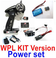 WPL C24 C-24 Spare Parts-16-01 Upgrade WPL KIT Version Power set(Include the 16-01,02,03,05,06,07 parts),WPL C24 C-24 RC Car Parts,WPL Parts,WPL C24 C-24 RC Military Truck Spare parts Accessories,WPL 4X4 1:16 Off-road Truck Parts