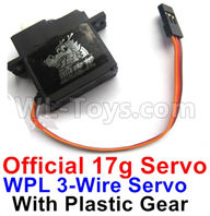 WPL C24 C-24 Spare Parts-17-01 Official WPL 3-Wire 17g Servo with Plastic Gear,WPL C24 C-24 RC Car Parts,WPL Parts,WPL C24 C-24 RC Military Truck Spare parts Accessories,WPL 4X4 1:16 Off-road Truck Parts