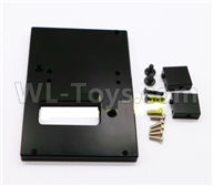 WPL C24 C-24 Spare Parts-18-05 Upgrade Metal Servo Fixed seat,Servo Frame-Black,WPL C24 C-24 RC Car Parts,WPL Parts,WPL C24 C-24 RC Military Truck Spare parts Accessories,WPL 4X4 1:16 Off-road Truck Parts