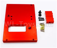 WPL C24 C-24 Spare Parts-18-06 Upgrade Metal Servo Fixed seat,Servo Frame-Red,WPL C24 C-24 RC Car Parts,WPL Parts,WPL C24 C-24 RC Military Truck Spare parts Accessories,WPL 4X4 1:16 Off-road Truck Parts
