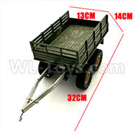 WPL C24 C-24 Spare Parts-22-01 Original self-loading 4 wheel trailer accessories-For DIY Parts-Green-32X13X14cm,WPL C24 C-24 RC Car Parts,WPL Parts,WPL C24 C-24 RC Military Truck Spare parts Accessories,WPL 4X4 1:16 Off-road Truck Parts
